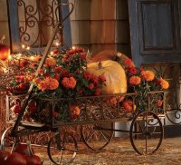 Autumn Flower Wagon