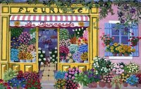 Flowershop in Paris by Cecilia Saubry