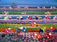 Working at the Flower Fields by Valquira Barros