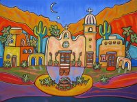 Desert village by Moonlight   Jenny Willigrod