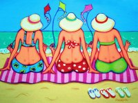Three Woman enjoy the Beach