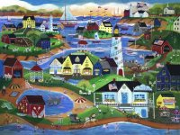 American Seaside village by Cheryl Bartley