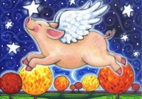 Flying Pig by Brenna White