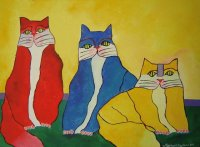 Cat Family by Aldemir Martins