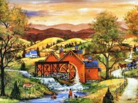 At the Mill by Mary Ann Vessey