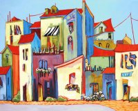 Italian Square  by Carolee Clark
