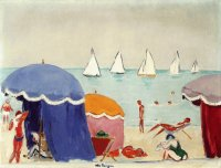 The Beach at Deauville by Kees van Dongen