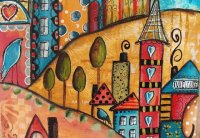 Funky little City by Jodi Ohl