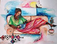 Reclining Lady by Chidi Okoye