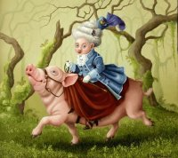 Riding on a Pig by Suzan Visser