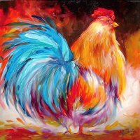 Big Rooster by Marcia Baldwin