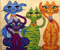 High Street Cats by Lisa Frances