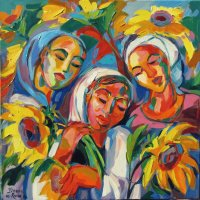 Sunflower Girls by Isabel le Roux