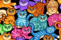 Colorful Kittens