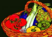 Basket with Vegetable