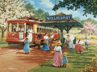 At the Car stop by John Sloane