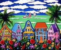 Tropical Beach Houses by Renie Britenbucher