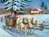 Sleigh riding by John Sloane