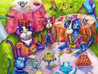 Kitty 's Tea party by Alma Lee
