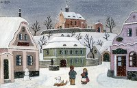 Snow in the Village by Josef Lada