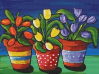 3 Flower Pots by Renie Britenbucher