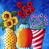 Colorful Vases by Renie Britenbucher