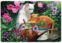 Cats in the Garden by Persis