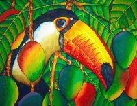 Toucan between the Food