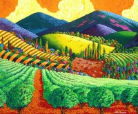 Wine Yards by Gene Brown