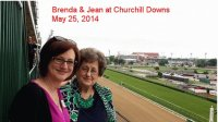Brenda and Jean at Churchill Downs