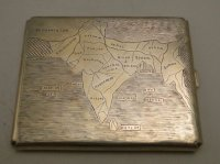Map of India Sterling Silver Cigarette Case