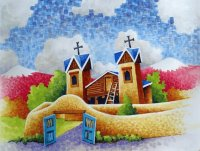 Church from Chimayo New Mexico by Robert Yackel