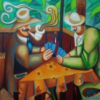 Card Players by Philippe Loubat