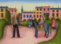 Donkey riding by Henri Bruel