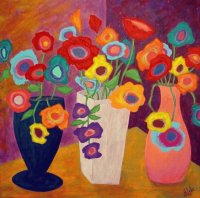 Flowers and Vases by John Blake