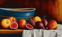 Still Life Peaches and Figs by Horacio Cardozo