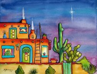 House in New Mexico by Sherry Darrah