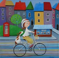 Ulla and her Dog by Iwona Lifsches