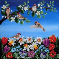 Flowers and Birds by Anna