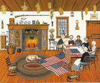 Quilt makers by Charles Wysocki