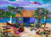 Tropical Island by Patti Schermerhorn