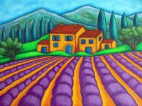 Lavender Fields by Lisa Lorenz