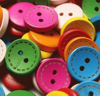 Round Wood Buttons