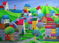 Village near the Sea by Iwona Lifsches