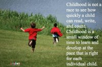 Childhood is not race............