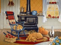 Afternoon rest in the Kitchen by Joan Sloane