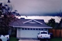 wall cloud with funnel, Redding CA