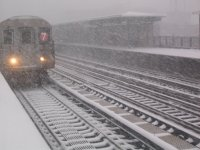 train at 82nd street station, Jackson Heights