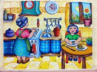 In the Kitchen by Carolina Cuadrileros