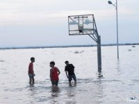 Flooded Basketball